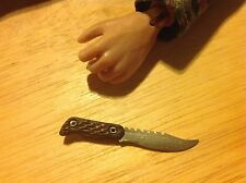 1:6 Scale Hand Crafted Miniature Steel Tactical Combat Knife #15 By Auret