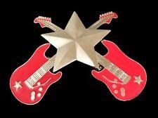 Electric Guitar Belt Buckle Rock Star Music Instrument Big Belts Buckles