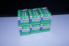 6 - rolls Fujichrome Velvia 50 135-36 Expired 1992
