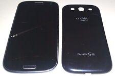 Samsung Galaxy S3 III 16GB SCH-R530C (Cricket) Cracked Glass Bad LCD Powers Up