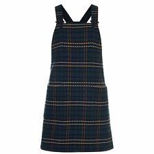 Jack Wills Womens Lilby Wool Dungaree Dress Midi Stretch New