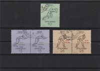 trieste zone b 1958 olympic games used stamp ref 6895
