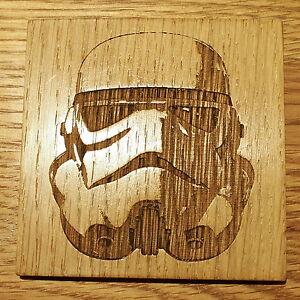 Star Wars Wooden Coaster Storm Trooper House Warming Birthday Gift Geek Chic