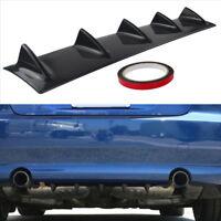 Car Shark Fin Styling Plastic Lower Splitter Rear Bumper Lip Diffuser Spoiler