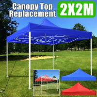 2m x 2m Portable Canopy Top Replacement Patio Gazebo Outdoor Sunshade Tent Cover