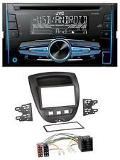 JVC MP3 USB CD 2DIN AUX Autoradio für Citroen C1 Toyota Aygo Peugeot 107 05-14