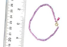 knotted authentic light amethyst gemstone bracelet solid 14k yellow gold 7""