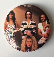 RARE Vintage early 80s VAN HALEN pinback badge pin button Eddie David Lee Roth