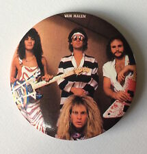 RARE Vintage early 80s VAN HALEN pinback badge pin button Eddie David Lee Roth