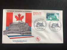 ENVELOPPE 1ER JOUR 1967 EXPOSITION UNIVERSELLE MONTREAL / TBE