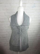 Urban Outfitters Lux women's size Medium Gray Knit Peplum Vest Wool Blend