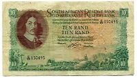 Republic of South Africa Rissik 1962 Series R10 VF Banknote Paper Money