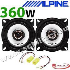 "ALPINE FIAT SEICENTO 97 On 4"" 10cm 2 way 360W Car Coaxial Rear Side Speakers"
