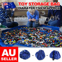 Large 150cm Portable Kids Toy Storage Bag and Play Mat Lego Toys Organizer Mat