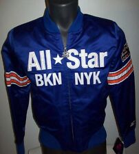 Woman's NBA ALL STAR BROOKLYN 2015 Satin Jacket by STARTER  BLUE XL Rare!