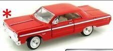 Chevrolet Impala 1964 - RED, Classic Metal Model Car, Motormax 1/24