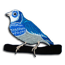 Budgerigar Budgie Parakeet Parrot Patch Embroidered Iron on Rockabilly Tattoo V2