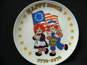 1975 Bobbs Merrill Raggedy Ann Andy Schmid bicentennial plate