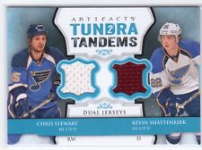 2013-14 UD Artifacts Tundra Tandems Chris Stewart Kevin Shattenkirk Dual Jersey