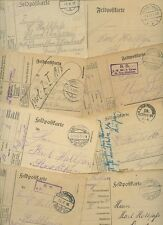 GERMANY WW1 MILITARY...15 ITEMS...FELDPOST CARDS...VARIOUS MARKINGS