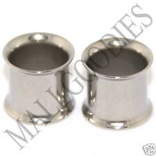 """0047 Steel Screw-on//fit CZ Ear Flesh Tunnels 7//16/"""" Inch 11mm Plugs Silver PAIR"""
