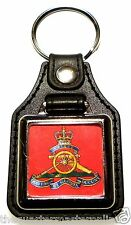 Royal Artillery Leather Medallion Key Ring / Keyring