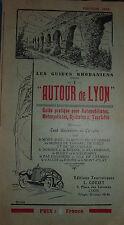 autour de Lyon- 1929 - guide Rhodanien  auto moto cycliste touriste