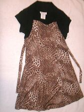 Bonnie Jean new leopard print dress size 8 NWT