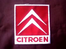 Citroen Iron on or Sew On Emproidered Patch Badge 7.8 cm x 8.7 cm Red/White