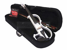 Pro. 4/4 White Electric Violin Pro. Pickup / Case / Bow