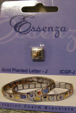ESSENZA GOLD PLATED ITALIAN CHARM - LINKS TOGETHER MAKES A BRACELET - LETTER - J