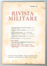RIVISTA MILITARE ANNO XVII NOVEMBRE 1961