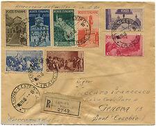 REPUBBLICA, FILATELIA, ANNULLI GENOVA, NOV 1946, SERIE 8 FRANCOBOOLI AVVENTO   m