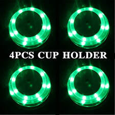 4Pcs Green LED Drink Holder Stainless Steel Marine Boat Cup Holder