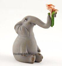 Elephant Offering Flowers TO 4627 Miniature Fairy Garden