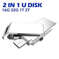2 en1 Clé USB 1T/2T Mémoire Flash à Disque Drive Pour iPhone iPad iPod BR