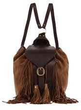 FRYE Clara Suede Fringe Backpack in Dark Brown New With Tags
