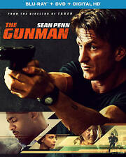 The Gunman (Blu-ray/DVD, 2015, 2-Disc set) w/slipcover, No Digital Copy
