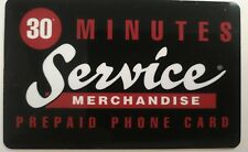 Service Merchandise Prepaid Phone Card, Vintage Collectible               (D)