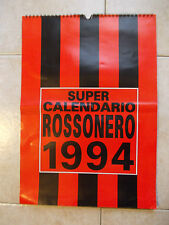 SUPER CALENDARIO CALENDAR ROSSONERO MILAN 1994