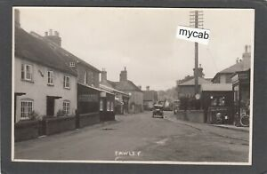Postcard Fawley nr Lymington New Forest Hampshire petrol pumps village shops RP