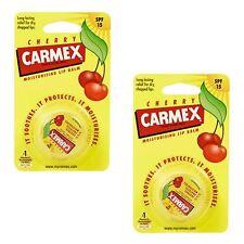 Carmex bálsamo De Labios Hidratante pot Cherry labios agrietados - 2 Pack