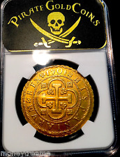"SPAIN 1701 8 ESCUDOS DOUBLOON NGC 58 ""ONLY 1 KNOWN!"" KING Philip V GOLD COIN COB"