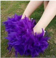 Chic 2018 Summer Spring ostrich Real feather Fur Platform Slides Flip Flop Shoes