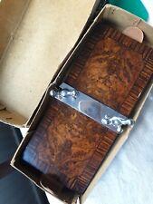 Boxed Vintage Flower Press mahogany solid wood registered design rare