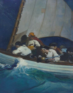 Newell Convers Wyeth Morgans Men Are Out For You And Blackbeard Canvas    # 6326