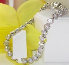 47201 7'' AAA simulated diamond TENNIS BRACELET BEZEL SET 12CTS clear sparkle