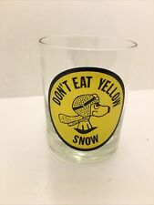 """New ListingAntique Vintage Snoopy """"Dont Eat Yellow Snow"""" Glass Cup"""