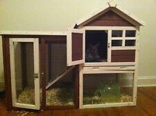 Rabbit Hutch Pet Animal Enclosure Backyard Bunny Cage Hen Hutch Lots Of Room New