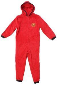 Manchester United Boys  Onesie/Jumpsuit (Not Gerber) Fleece All In One Jumpsuit